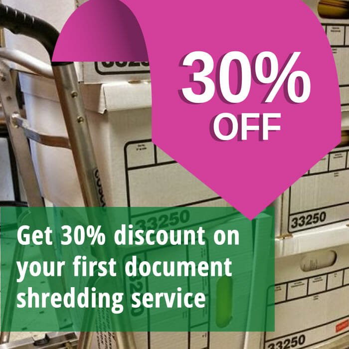 30 discount on shredding services