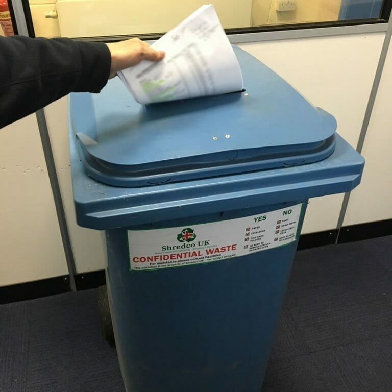 sensitive waste shredding in manchester